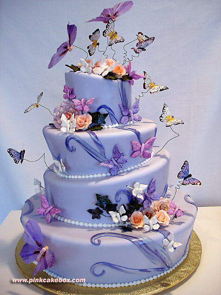 Wedding Cake Papillon Violet